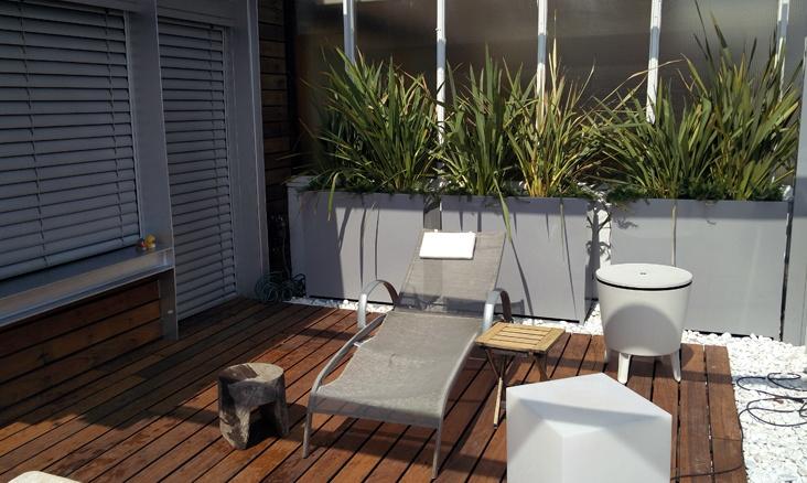 Proyecto de jardineria en aticos en Madrid