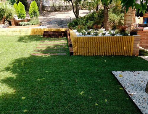 Diseño de jardín en los Peñascales