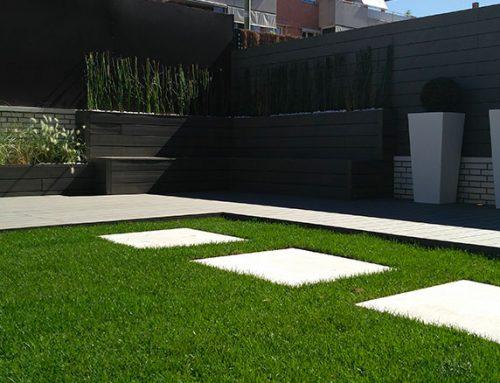 Diseño y paisajismo en un bajo con jardín en Pozuelo de Alarcón