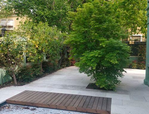 Diseño de jardín en vivienda unifamiliar en el Viso