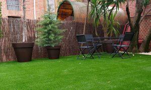 decoracion y jardinería en chalets adosados