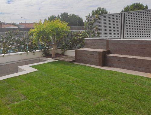 Diseño de jardín en vivienda adosada en las Cárcavas de Madrid